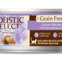 Holistic Select Chicken Pate Wet Cat Kitten Food 24/3oz.