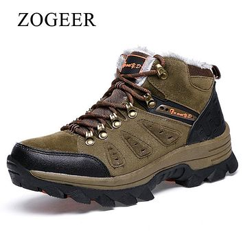 ZOGEER Brand Winter Shoes Men, Big Size 38-47 Super Warm Men's Boots, Casual Sneakers Ankle Snow Boots For Man Footwear
