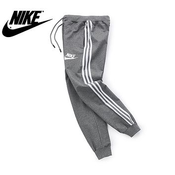 NIKE 2018 autumn new loose warm trend sports trousers Grey
