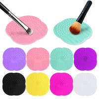 1 PC 8 Colors Silicone Cleaning Cosmetic Make Up Washing Brush Gel Cleaner Scrubber Tool Foundation Makeup Cleaning Mat Pad Tool