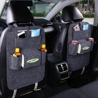 Car Back Seat Storage Bag Car Seat Cover Organizer Trash Net Holder Multi-Pocket Holder for Organizer Auto Storage Pouch
