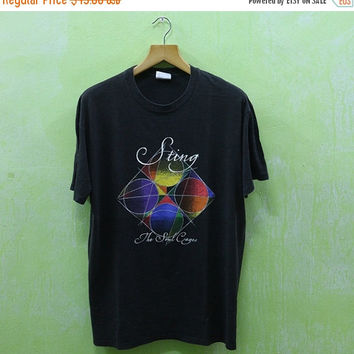 15% SALES Vintage 90's STING The Soul Cages Concert World 1991 Tour Classic Rock Rock T shirt