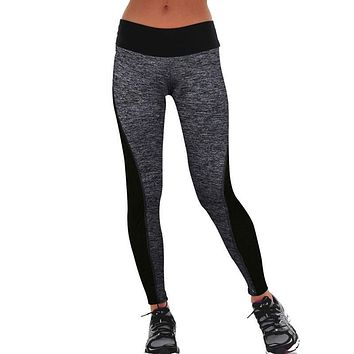Tummy Control Patched Workout Leggings