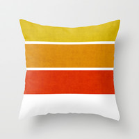 Sunny Day Throw Pillow by Pattern Pillows