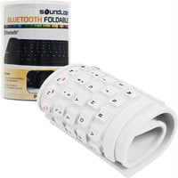 Roll-up Portable Flexible Bluetooth Keyboard - White