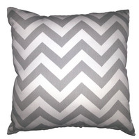 "Chevron Throw Pillow in your choice of Fabric and Size - 16"" x 16"" or 18"" x 18"" or 20"" x 20"" FREE DOMESTIC SHIPPING"
