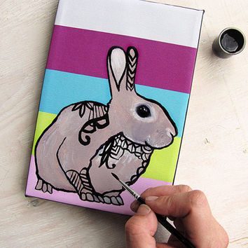 DIY Tangle Painting - Bunny Rabbit