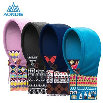 AONIJIE Winter Fleece Hat Outdoor Sports Warm Hat Windproof Beanies Caps Scarf Warmer Face Mask for Hiking Cycling Running