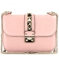 mytheresa.com -  Lock Small leather shoulder bag  - Luxury Fashion for Women / Designer clothing, shoes, bags