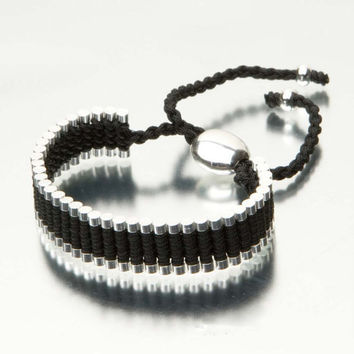 Woven Friendship Bracelet , One Direction Bracelet, 1D, 1 Direction, Directioner, Black