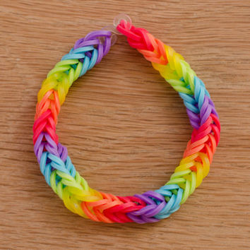 Double Rainbow Rainbow Loom Fishtail Bracelet