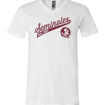 Official NCAA Florida State University Seminoles FSU Noles Est. 1851 V-Neck T-Shirt