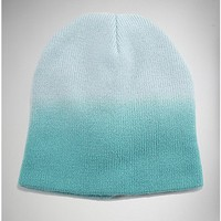 Ombre Teal Beanie - Spencer's