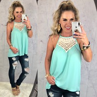 Cosmic Love Top: Mint