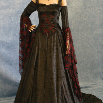 renaissance medieval gothic wedding dress pagan wicca