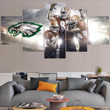Rugby ball Paintings Philadelphia Eagles Modern Home Decor Living Room Bedroom Wall Art Canvas Print Painting Calligraphy