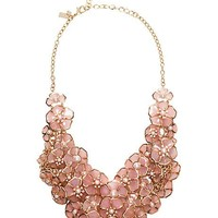 sunset blossoms statement necklace