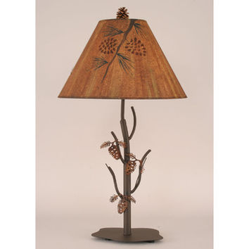 Coast Lamps Iron Pine Cone Tree Table Accent Lamp