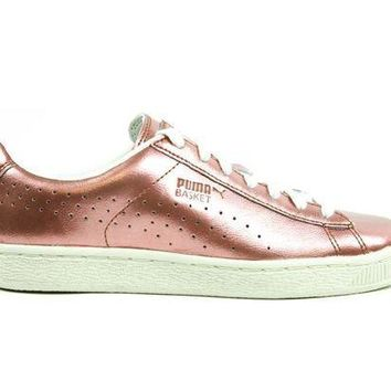 CREY8KY Puma Basket Citi Series Metallic Copper Whisper White 364165-01