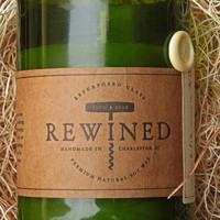 Rewined - Champagne - Repurposed Wine Bottle - Soy Wax Candle