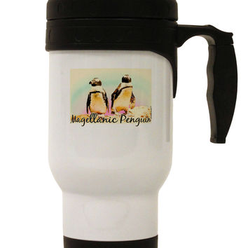 Magellanic Penguin Text Stainless Steel 14oz Travel Mug