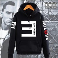 NEW Fashion Autumn and winter Men's Fleece Hoodies Eminem Printed Thicken Pullover Sweatshirt hip hop Men Sportswear Clothing