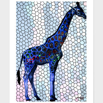 «Giraffe» Art Print by Casey Bell - Exclusive Edition from $24.9 | Curioos