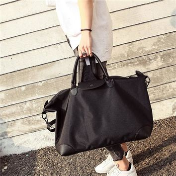 Sports gym bag Large Capacity Outdoor Men's  PU Leather Oxford Tote Duffel Bag Multi function Portable Travel Sports Gym Fitness Bag KO_5_1