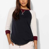Colorfast Baseball Tee- Navy