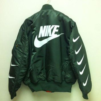 Nike x Alpha Industries MA-1 Trending Bomber Jacket Army Green I