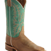 Justin Bent Rail Burnished Calf Cowgirl Boots - Square Toe - Sheplers