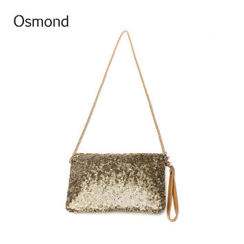 Osmond Luxury Handbags Women Bags Designe Chain Bag Women Sparkling Sequins Party Bag Women Clutch Handbags Envelope Clutch