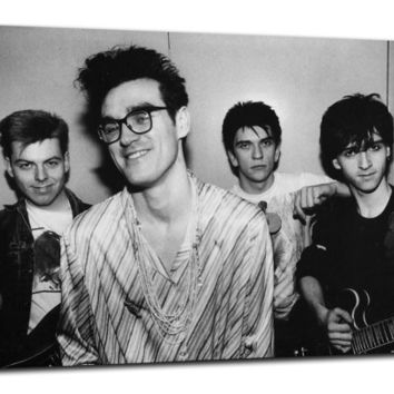 The Smiths Morrissey Johnny Marr Box Framed Music Canvas Art Print or Poster - Various Sizes