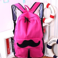Cute Pink Smile Bread Backpack Bag