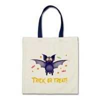 Trick or treat! halloween baby bat candy corn
