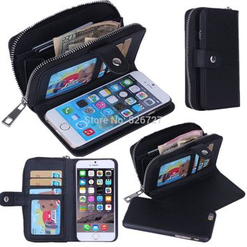 Leather Handbag Wallet Phone Case for iPhone 7 6 6s Plus 5S SE Cover For Samsung Galaxy S8 Plus S7 S6 S5 Note 4 5 A3 A5 A7 J5 J7