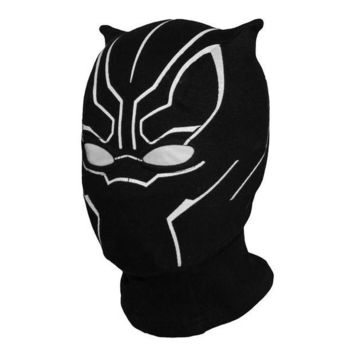LMFON Superhero Black Panther Balaclava Full Face Mask Halloween Costume X-men Hats Cap Party Captain America Civil War