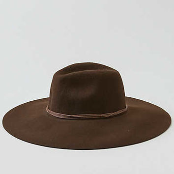 AEO Corded Wide Brim Hat, Brown