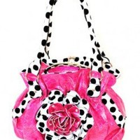 Hot Pink Purse with Polka Dots  - Kelly's Boutique