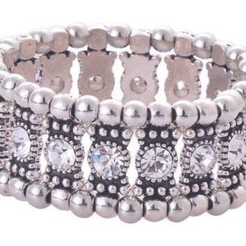 Clear Crystal Stretch Bracelet