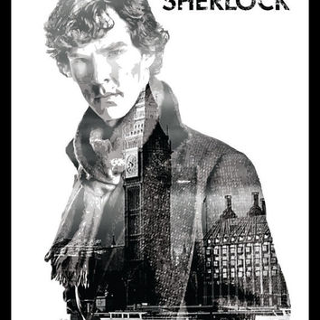 Sherlock / Benedict Cumberbatch - BBC Sherlock Inspired - Movie Art Poster