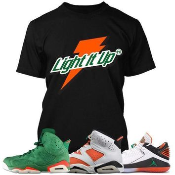 Air Jordan 6 Gatorade Sneaker Tees Shirt to Match - LIGHT IT UP