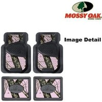 Mossy Oak Infinity Pink Camo Print Car Truck SUV Front & Rear Seat Heavy Duty Trim-to-Fit Rubber Floor Mats - 4PC