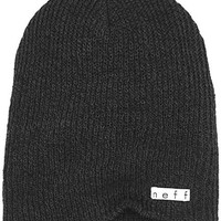 Neff Men's Daily Heather Beanie Black Grey