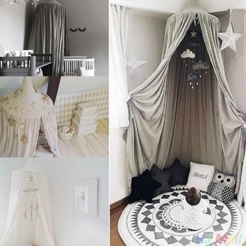 Kids Baby Bedding Dome Bed Canopy Netting Bedcover Mosquito Net Curtain free shipping