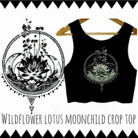 Wildflower Lotus Moonchild Crop Top