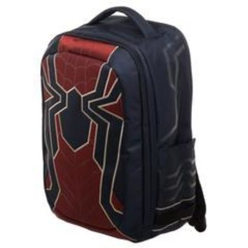 MPBP Spiderman Laptop Bag, New Avengers Costume Style Red with Blue, Back to School Backpack
