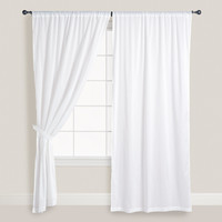 White Cotton Voile Curtain - World Market