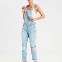 Tomgirl Overall , Destroyed Light Wash
