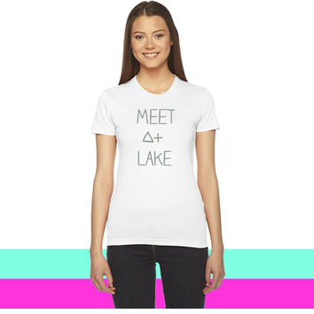 Meet At lake (SALE) - t33time_ women T-shirt
